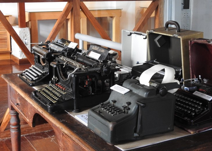 Collection of calculators and typewriters!