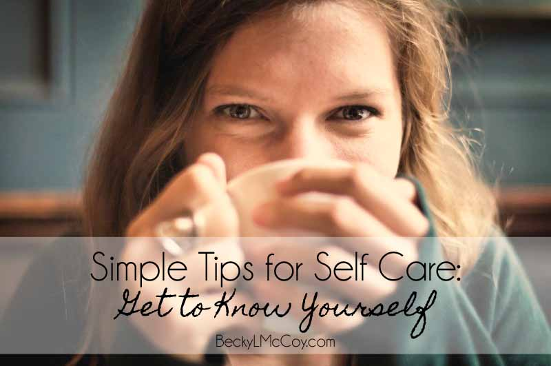 self care get to know yourself