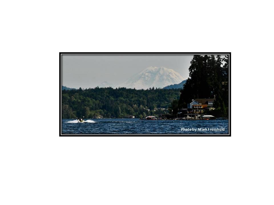 Lake Sammamish & Mt. Rainier (by M.F.)