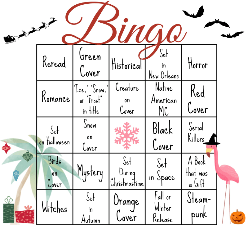 Bookish Bingo Oct-Dec