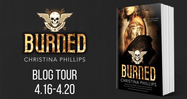 Burned by Christina Phillips tour banner