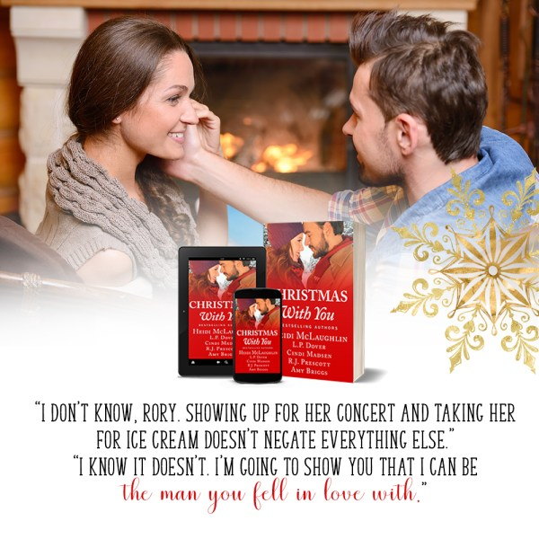 """""""'I don't know, Rory. Showing up for her concert and taking her for ice cream doesn't negate everything else,' 'I know it doesn't. I'm going to show you that I can be the man you fell in love with.'"""" It's a Wonderful Holiday by Heidi McLaughlin"""