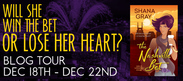 """""""Will she win the bet or lose her heart?"""" THE NASHVILLE BET tour banner"""