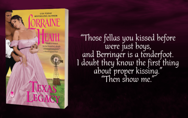 """""""Those fellas you kissed before were just boys, and Berringer is a tenderfoot. I doubt they know the first thing about proper kissing."""" """"Then show me."""""""