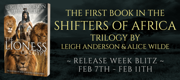 The first book in the Shifters of Africa trilogy by Leigh Anderson and Alice Wilde   Release Week Blitz banner