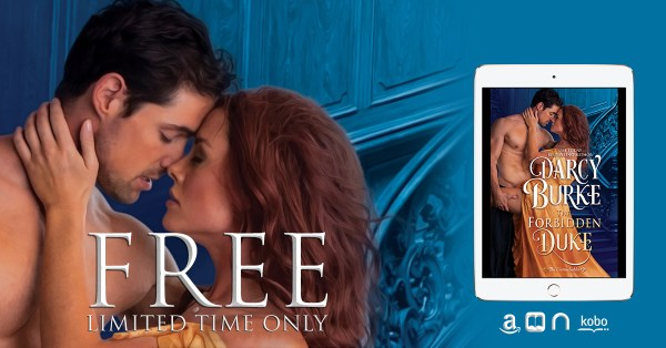 FREE book blitz banner: THE FORBIDDEN DUKE by Darcy Burke