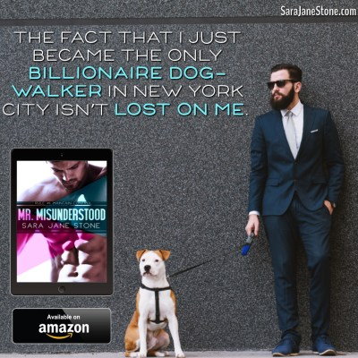 The fact that I just became the only billionaire dogwalker in New York City isn't lost on me.