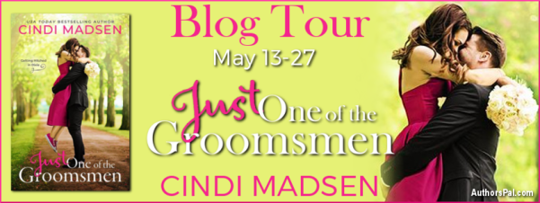 Just One of the Groomsmen by Cindi Madsen   blog tour banner