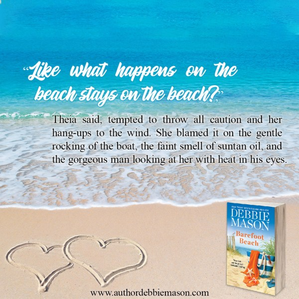 """""""Like what happens on the beach stays on the beach?"""" Theia said, tempted to throw all caution and her hang-ups to the wind. She blamed it on the gentle rocking of the boat, the faint smell of suntan oil, and the gorgeous man looking at her with heat in his eyes."""
