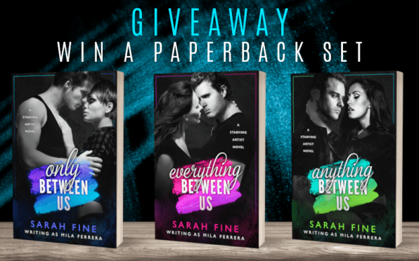 Giveaway graphic: Win a paperback set