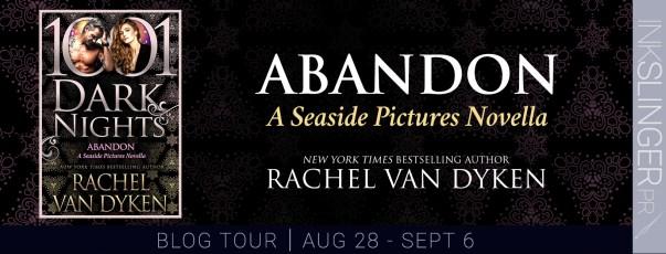 Abandon: A seaside pictures novella by Rachel Van Dyken blog tour banner
