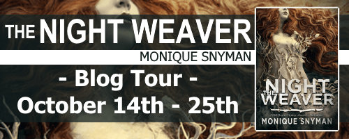 The Night Weaver blog tour banner