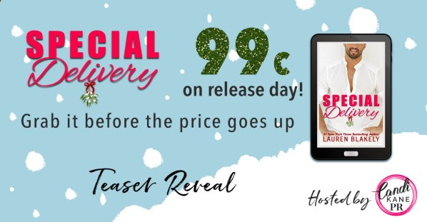 Special Delivery 99 cents on release day! Grab it before the price goes up teaser reveal banner