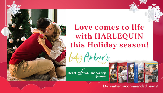 Love comes to life with Harlequin this holiday season! Read. Love. Be Merry. tour banner