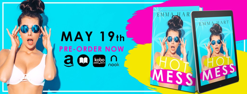 Hot Mess cover reveal banner May 19th pre-order now