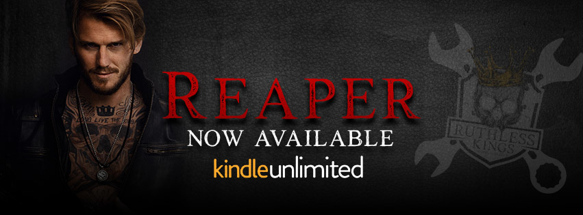 Reaper  now available banner Kindle Unlimited