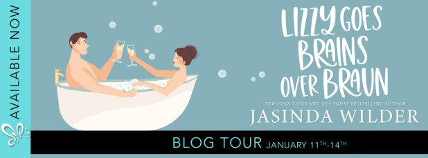 Lizzy Goes Brains Over Braun blog tour banner