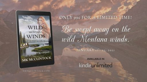 Only 99 cents for a limited time!   Be swept away on the wild Montana winds.  WILD MONTANA WINDS sale graphic