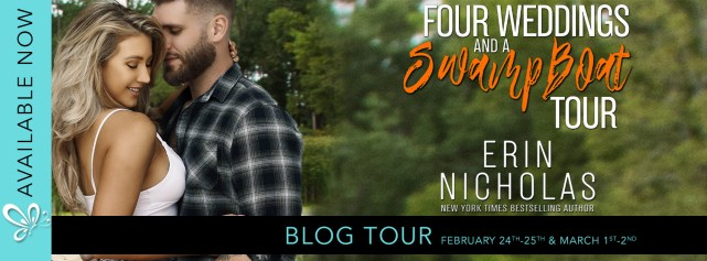 Four Weddings and a Swamp Boat Tour blog tour banner