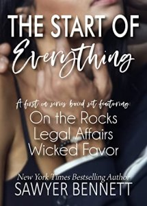 The Start of Everything box set cover includes: On the Rocks Legal Affairs Wicked Favor