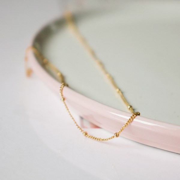 Satellite Beaded Chain Necklace - Gold