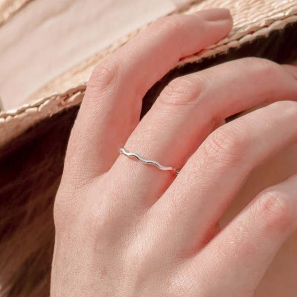 Our dreamy Wave Stacking Ring has been designed with the ocean in mind.