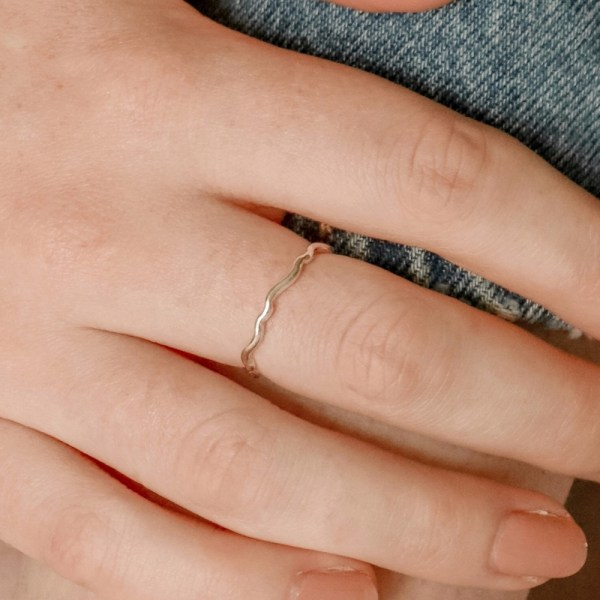 Our dreamy Wave Stacking Ring has been designed with the ocean in mind