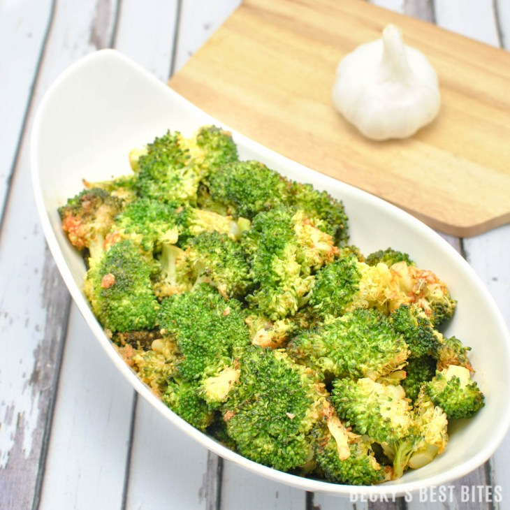 Roasted Sriracha Broccoli is a healthy side dish recipe bursting with  flavor! Add this unique