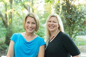 Tara Luebbe and Becky Cattie