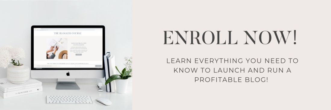 enroll on the blogger course by becky van dijk