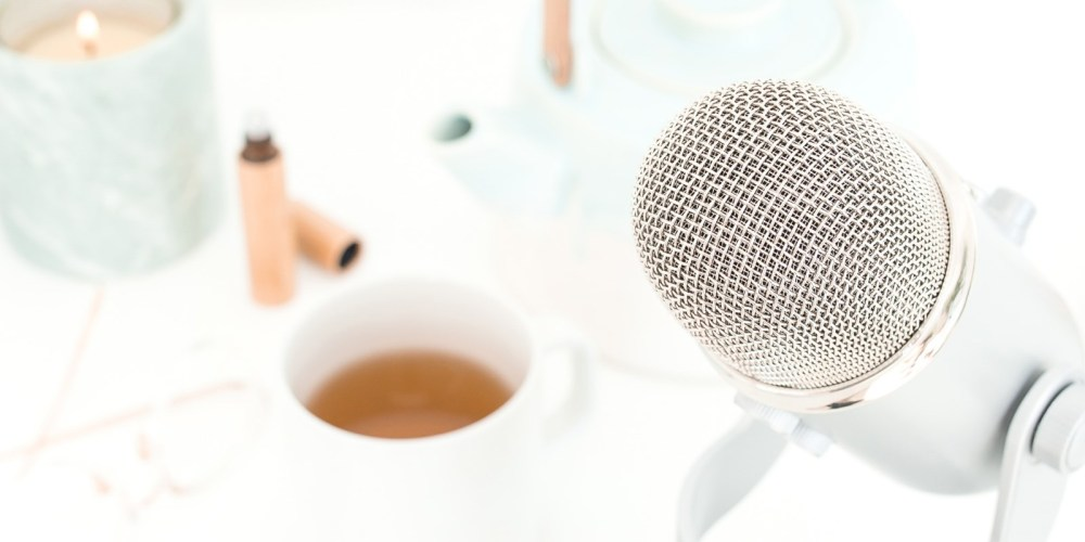 microphone and coffee cup