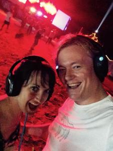 Braving a full moon silent disco in Goa…