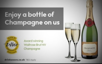 Free champers at Waitrose
