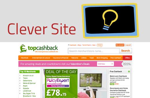 Clever Sites: TopCashback & Quidco Cashback Sites
