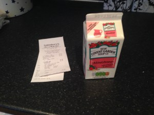 My soup and receipt