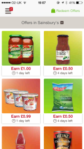 Some of the offers for Sainsburys