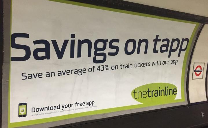 trainline tube advert