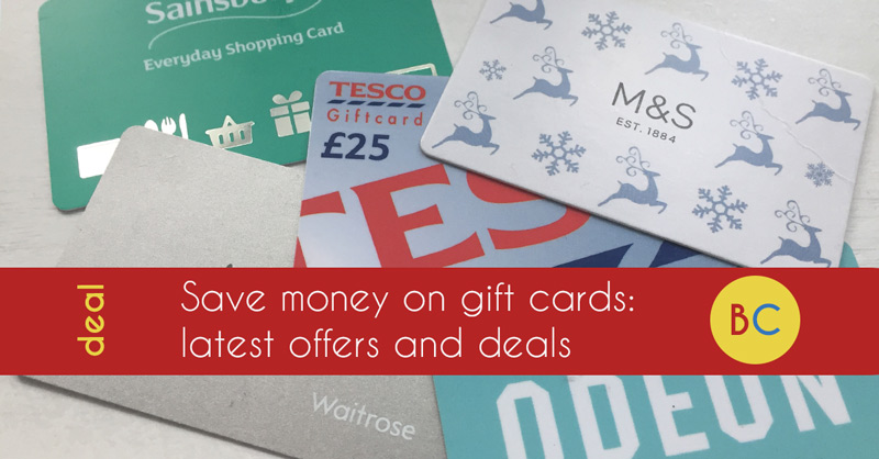 Gift card discounts and offers
