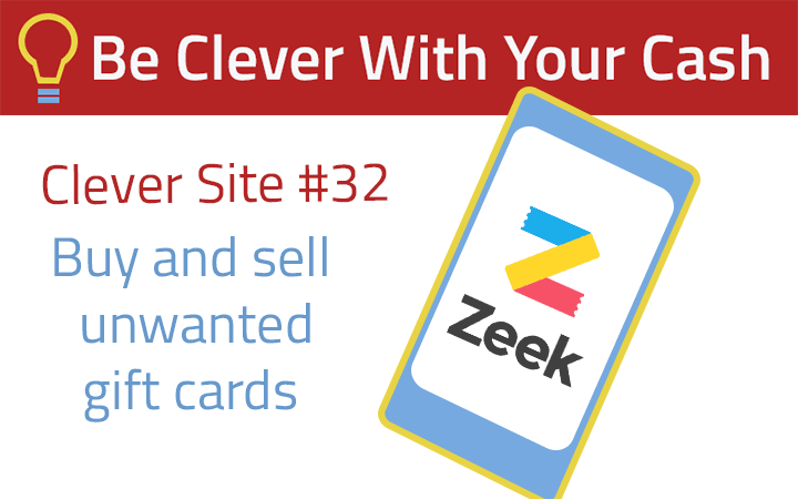 Clever Site #32: Buy and sell gift cards with Zeek