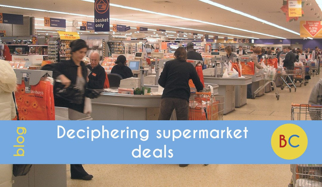 Deciphering supermarket deals