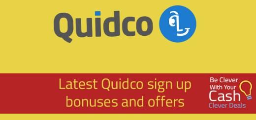 Quidco sign up bonus offer