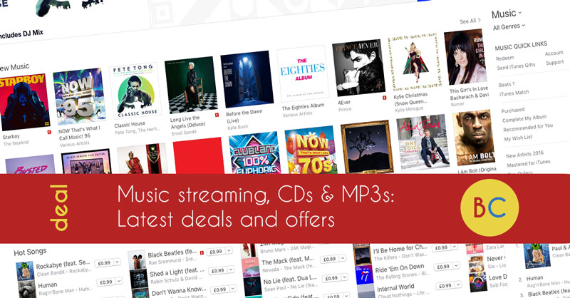 Music streaming deals inc a year of Spotify for price of 10