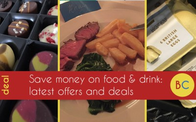 Latest food & drink deals inc free hot drinks and pints | free Deliveroo credit | Majestic wine discount