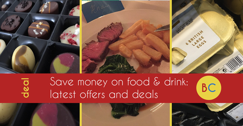 Latest food & drink deals inc free Free hot drinks and pints