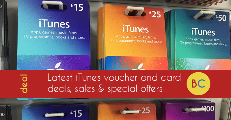 itunes voucher deals uk
