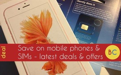 Mobile phone and SIM only deals – £12ish 20GB deal with EE