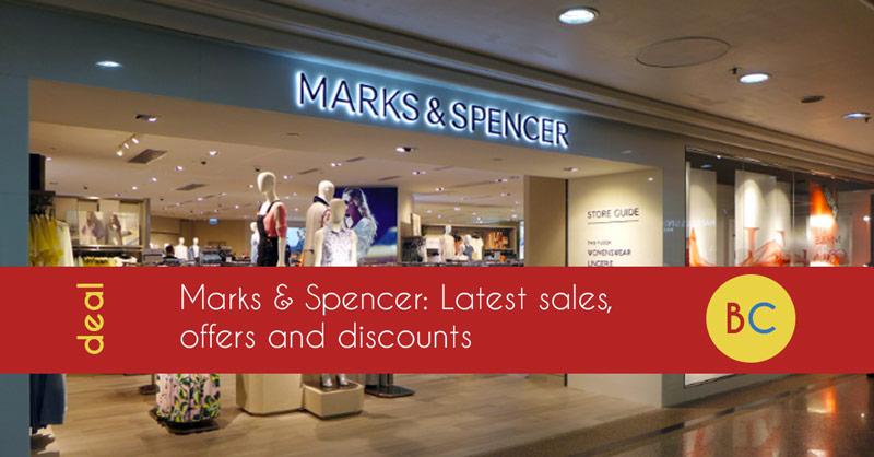 Marks & Spencer 20% off weekend