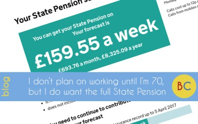 I don't plan on working until 70 years old, but I do want the full State Pension