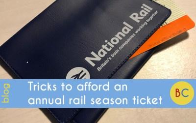 Tricks to afford an annual rail season ticket