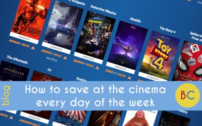 How to save at the cinema every day of the week